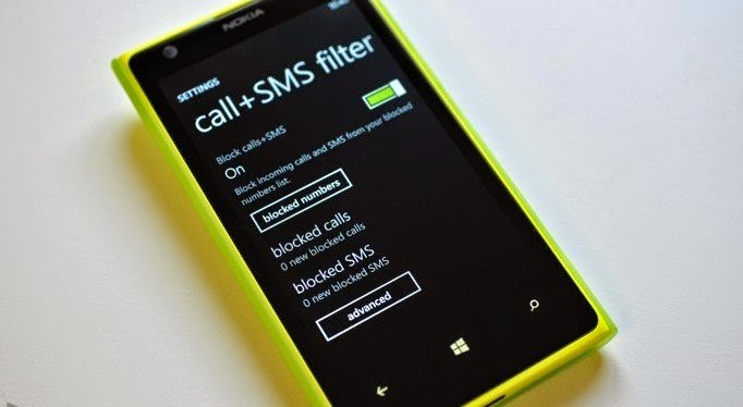 Bloqueio de chamadas e sms windows phone nokia lumia gdr2 amber