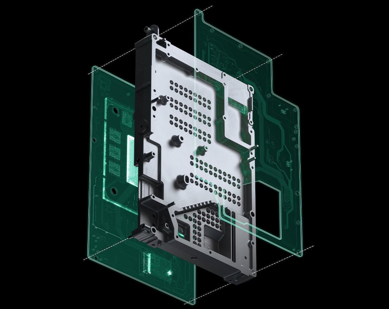xbox series x dissipador de calor do console