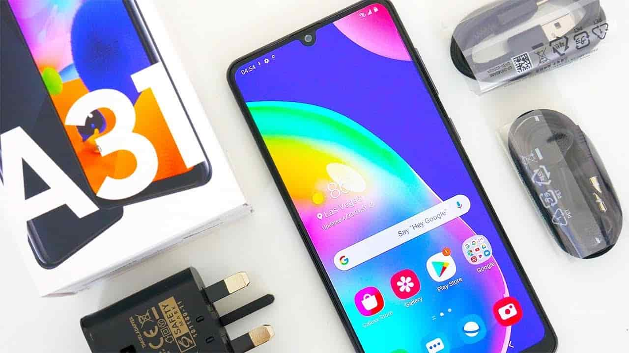 galaxy a31 unboxing