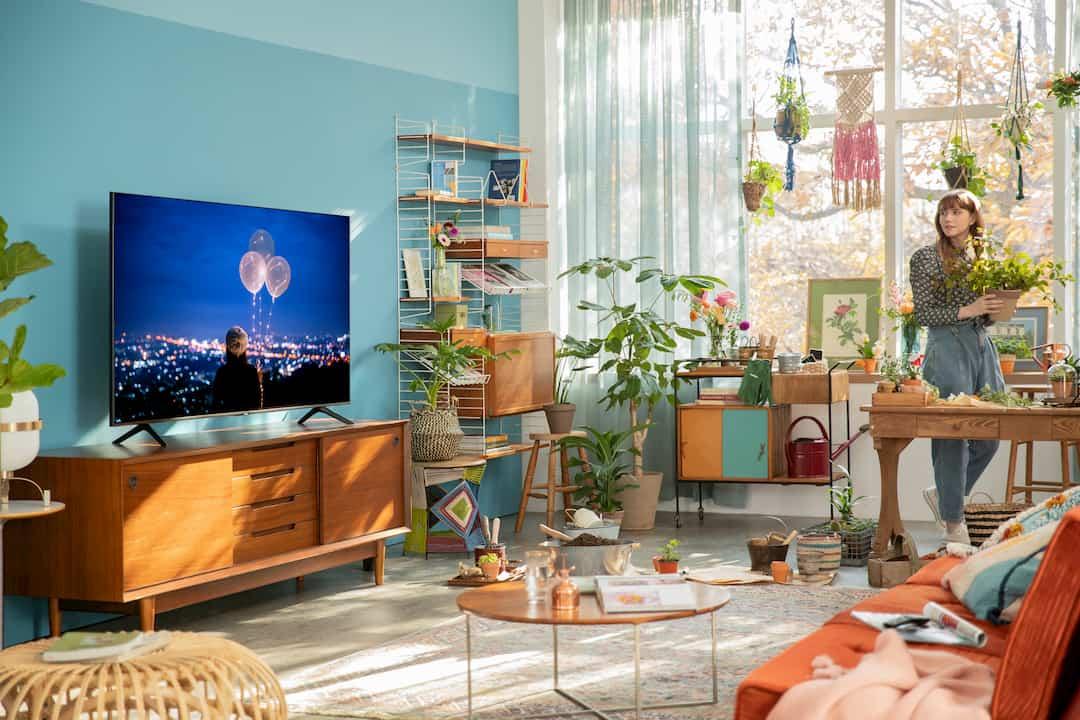 tv 4k samsung sala de estar